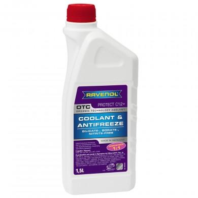 Antigel G12 RAVENOL OTC (fara silicati) Concentrat 1,5L