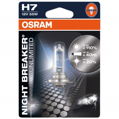 Bec Auto OSRAM - H7 12V 55W PX26d NIGHT BREAKER UNLIMITED (BLISTER)