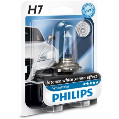 Bec Auto PHILIPS - H7 12V 55W PX26d WHITE VISION - 12972WHVB1