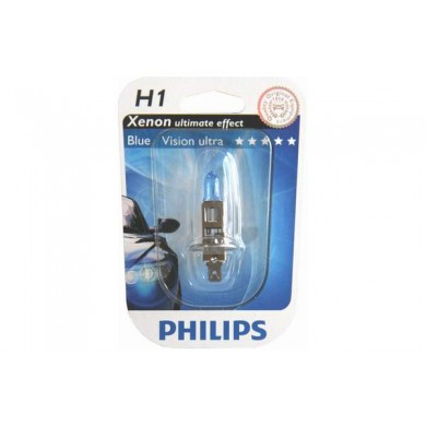 Bec Auto PHILIPS H1 12V 55W P14,5s BLUE VISION ULTRA (BLISTER)