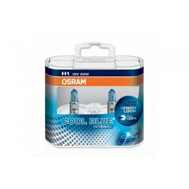 Set de 2 becuri OSRAM H1 12V 55W P14,5s COOL BLUE INTENSE