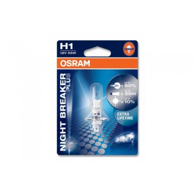 Bec Auto OSRAM H1 12V 55W P14,5s NIGHT BREAKER PLUS (BLISTER)