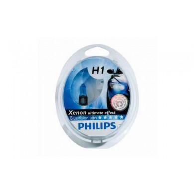 Set de 2 becuri PHILIPS H1 12V 55W P14,5s BLUE VISION ULTRA
