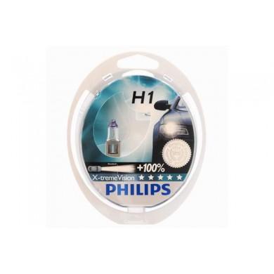 Set 2 Becuri Auto PHILIPS H1 12V 55W P14,5s X-TREME VISION
