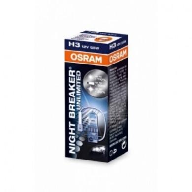 Bec Auto OSRAM H3 12V 55W PK22s NIGHT BRAKER UNLIMITED
