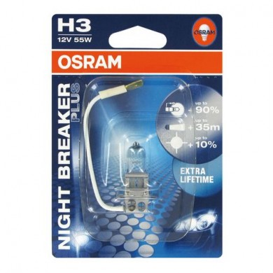 Bec Auto OSRAM H3 12V 55W PK22s NIGHT BRAKER PLUS (BLISTER)