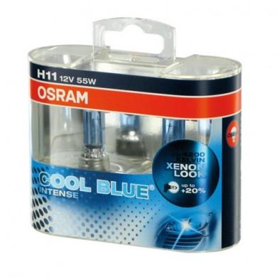 Set  2 Becuri Auto OSRAM - H11 12V 55W PGJ19-2 COOL BLUE INTENSE
