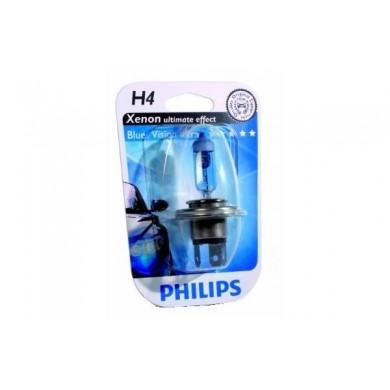 Bec Auto PHILIPS - H4 12V 60/55W P43t  WHITE VISION (BLISTER)