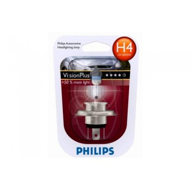 Bec Auto PHILIPS - H4 12V 60/55W P43t   VISION PLUS (BLISTER)