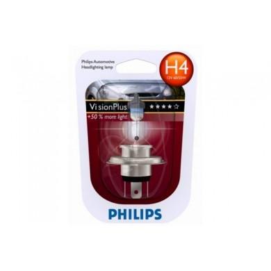Bec Auto PHILIPS - H4 12V 60/55W P43t   VISION PLUS (BLISTER)
