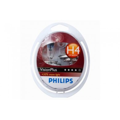 Set Becuri Auto PHILIPS - H4 12V 60/55W P43t   VISION PLUS