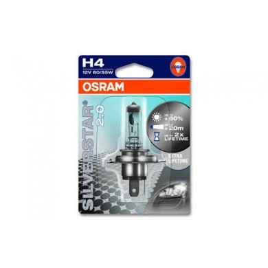 Bec Auto OSRAM - H4 12V 60/55W P43t SILVERSTAR (BLISTER)