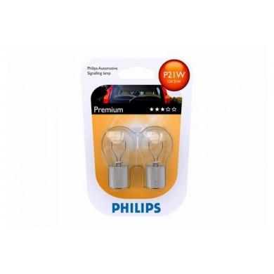 Set Becuri Auto PHILIPS - P21W 12V 21W BA15s (BLISTER)