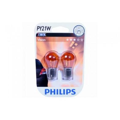 Set  Becuri Auto PHILIPS - PY21W 12V 21W BAU15s galben (BLISTER)