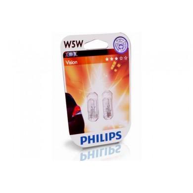 Set Becuri Auto PHILIPS - W5W 12V 5W  W2,1x9,5d (BLISTER)