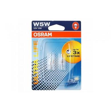 Set Becuri Auto OSRAM - W5W 12V 5W  W2,1x9,5d ULTRA LIFE (BLISTER)