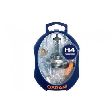 Set Becuri Rezerva OSRAM - MINI H4, P21W, PY21W, P1/5W, R5W, W5W, 3 sigurante