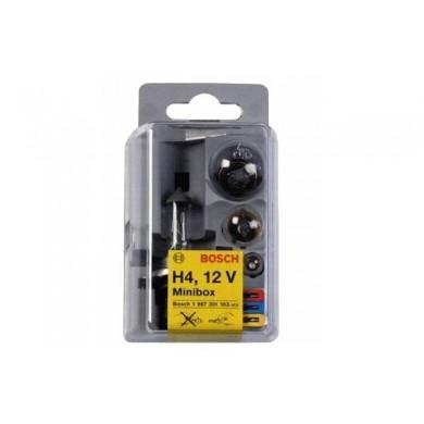 Set Becuri Rezerva BOSCH - MINIBOX H4 - 5 becuri + 3 sigurante