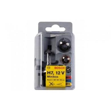 Set Becuri Rezerva BOSCH - MINIBOX H7 - 5 becuri + 3 sigurante