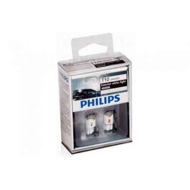 Set Becuri Auto LED - PHILIPS - W5W 12V 1W  W2,1x9,5d