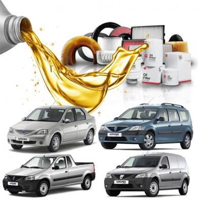 Pachet Revizie DACIA LOGAN 1.5 dCi (55kW, 65kW) - Filtre + Ulei Motor
