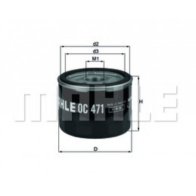 Filtru ulei - MAHLE ORIGINAL - OC471