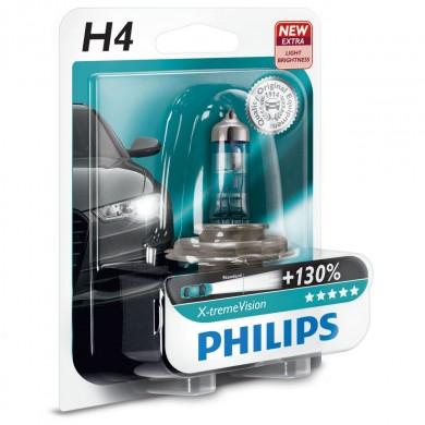 Bec Auto PHILIPS - H4 12V 60/55W P43t   X-TREME VISION PLUS (BLISTER)