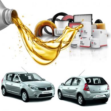 Pachet Revizie DACIA SANDERO 1.2 16V (55kW) - Filtre + Ulei Motor