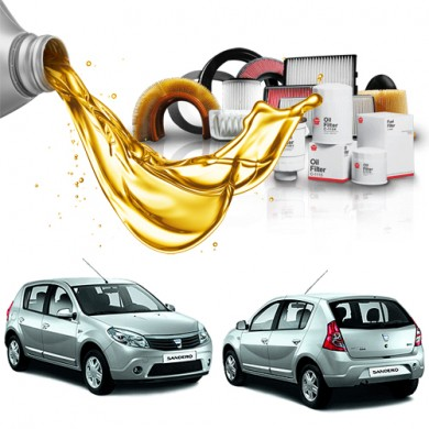 Pachet Revizie DACIA SANDERO 1.4 MPI (55kW) - Filtre + Ulei Motor