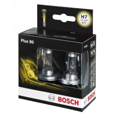 Set Becuri Auto BOSCH - H7 12V 55W PLUS 90 - 1987301075