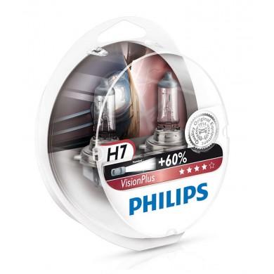 Set Becuri Auto PHILIPS - H7 12V 55W PX26d VISION PLUS (+60%) - 12972 VPS2