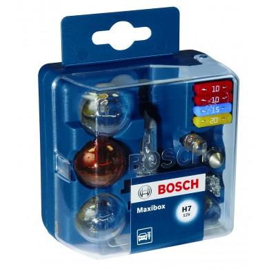 Set Becuri Rezerva BOSCH - MAXIBOX H7 (8 becuri + 4 sigurante) - 1987301113