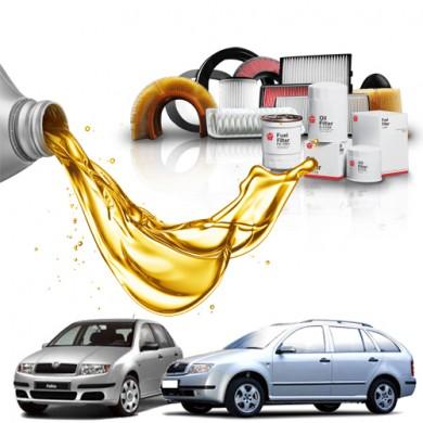 Pachet Revizie SKODA FABIA 1.2 12V (47kW) Cod motor AZQ,BME - Filtre + Ulei Motor