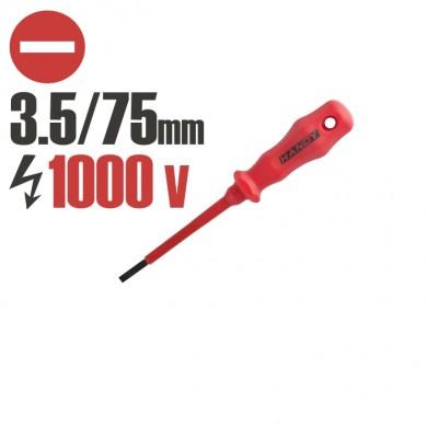 Şurubelniţe Izolat până la 1000 V 75 mm 3.5 mm