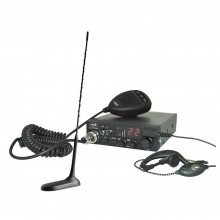 Kit Statie radio auto CB PNI ESCORT HP 8001 ASQ + Casti HS81 + Antena CB PNI Extra 45 cu magnet