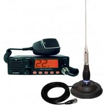 Kit Statie radio auto CB TTi TCB-990 + Antena PNI ML 100