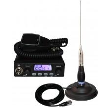 Kit Statie radio auto CB TTi TCB-1000 + Antena PNI ML 100