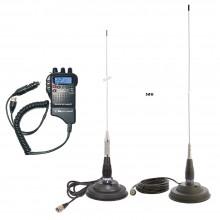 Kit Statie radio auto CB Midland Alan 52 + Antena CB PNI ML145/ML100 cu magnet