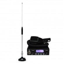 Kit Statie radio auto CB TTi TCB-1000 + Antena CB Midland 18-244M