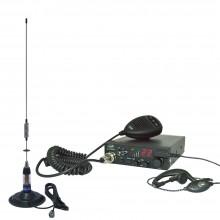 Kit Statie radio auto CB PNI ESCORT HP 8001 ASQ + Casti HS81 + Antena CB PNI ML70 cu magnet inclus