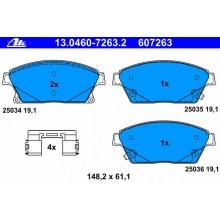 Placute frana fata ATE - 607263 / Cod original OPEL Astra J = 542115