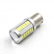 Bec Auto LED P21W, 12V,  BA15S, CANBUS, 30SMD 5730 + LUPA 5W CREE, ALB, 1 bucata