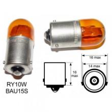 Bec Auto - HELLA - RY10W 12V 10W BAU15s galben