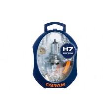 Set Becuri Rezerva OSRAM - MINI  H7, P21W, PY21W, P1/5W, R5W, W5W, 3 sigurante