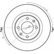 Disc frana OE CITROEN - 4246W4