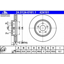 DISC FRANA - ATE - 24.0124-0161.1 / 424161