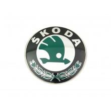 EMBLEMA - LOGO SKODA  Original cod OE 3U0853621 / 3U0853621BMEL / Skoda Octavia 2 , Fabia 2 ,Roomster, Superb, Yeti - Fata