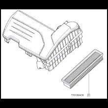 Filtru aer - Motor - DACIA - RENAULT ORIGINAL - 165461599R (cod vechi = 7701064439)