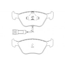 Set Placute frana OE FORD - 6744007