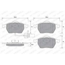 Set Placute frana OE FORD - 1205695
